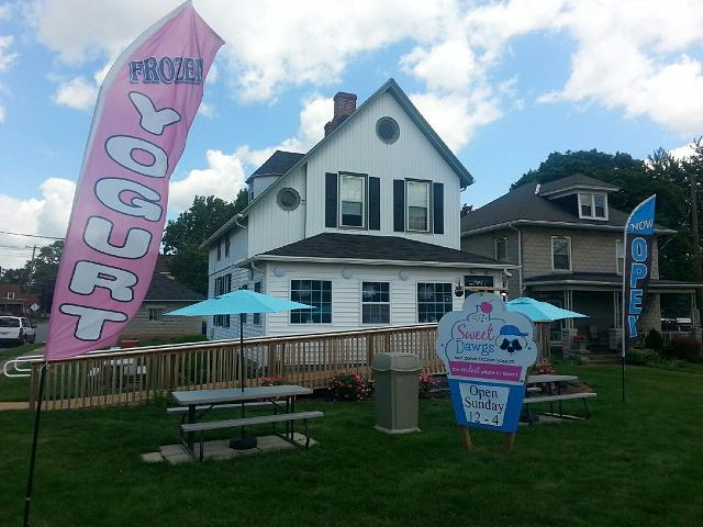 Come celebrate Sweet Dawgs Frozen Yogurt Daily!